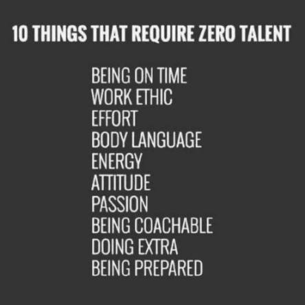 10 things that don't require talent