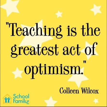 Teaching is optimism
