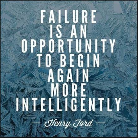 Failure opportunity start over