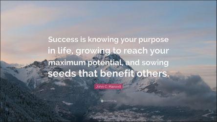 Success purpose seeds