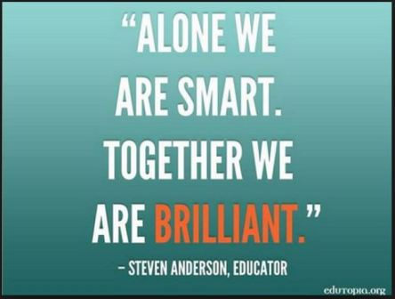 Alone smart together brilliant