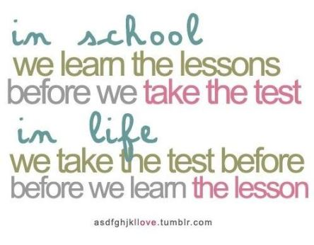 Learn lessons before or after test