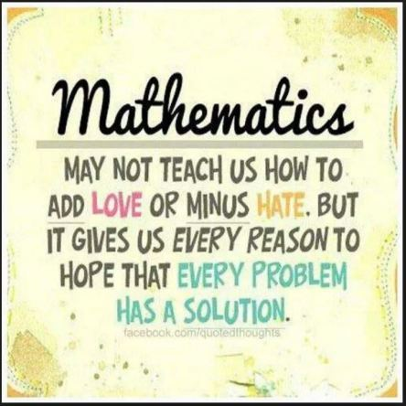 Mathematics love hate hope