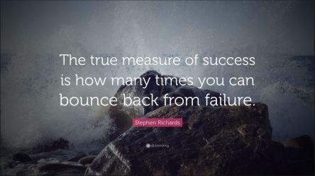 Success bounce back