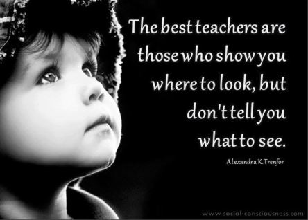 Best teachers where to look not what to see
