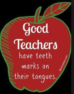 Good teacher teeth marks on tongue
