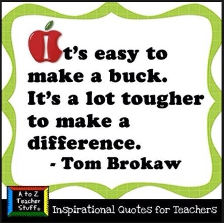 Make a difference not a buck