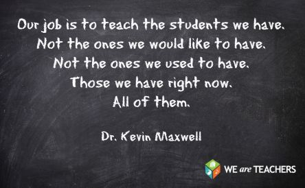 Teach the students we have and not ones we do not have