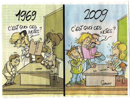 Dessin 1969 2009 parents enseignants