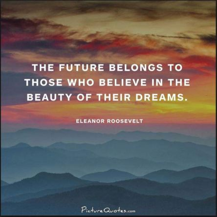 Future belongs beauty dreams