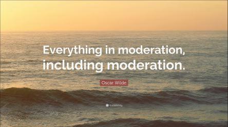 moderate moderation