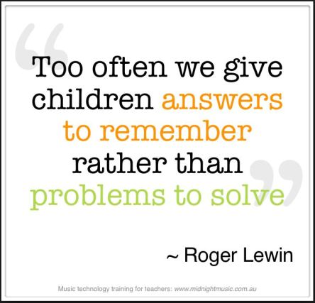 Problems to solve is not answers to remember
