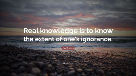 Real knowledge knows ignorance