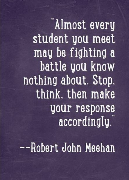 Student fighting unknown battle
