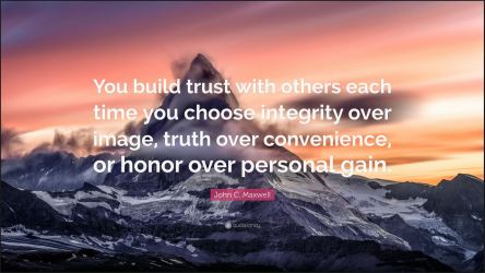 Honor over personal gain