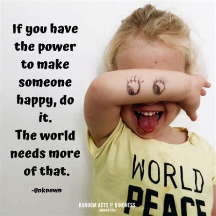 Power to make someone happy