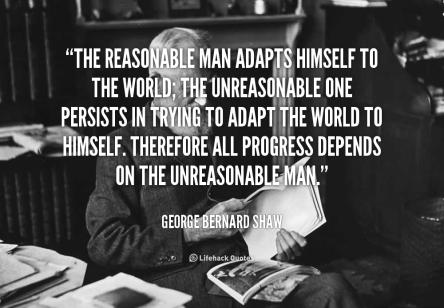 Progress due to unreasonable man