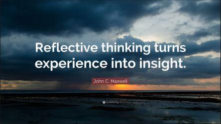 Reflective thinking insight