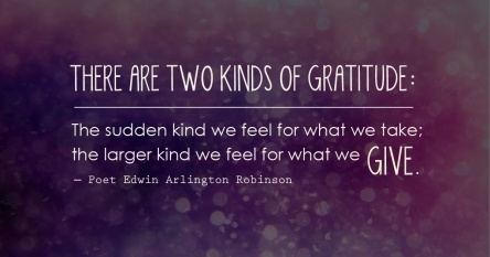 Two kinds of gratitude