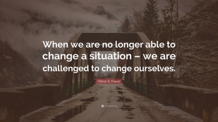 Not change situation change self