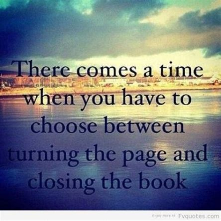 Turn the page or close book